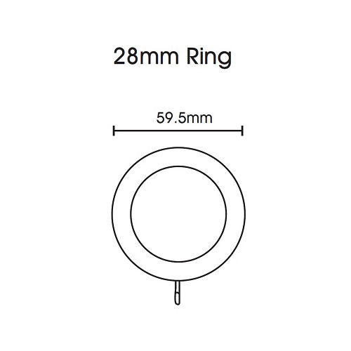 Swish Naturals 28mm Wooden Curtain Rings (Pack of 4) - Natural Oak